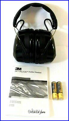 3M MT13H223A Peltor Over the Head Electronic Ear Muffs Headset 26dB Green Muff