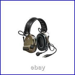 3M/Peltor ComTac VI Electronic Earmuff with Boom Microphone OD Green