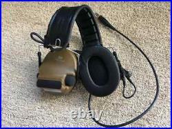 3M Peltor ComTac VI NIB Headset Coyote Brown NATO Single Comms
