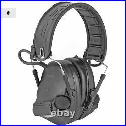 3M/Peltor, ComTac V, Electronic Earmuff, Headband, Foldable, Black Color