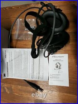 3M Peltor Comtac MT17H682BB-47 SV Black Two Way Radio Headset Battery Powered