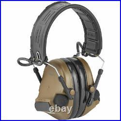 3M/Peltor Electronic Earmuff ComTac V Foldable Headband Hearing Defender Coyote
