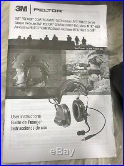 3M Peltor MT17H682FB-09-SV Black Comtac III Electronic Shooting Safety Earmuffs