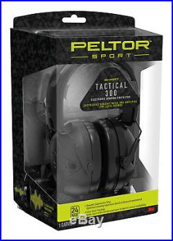 3M Peltor Sport Tactical 300 Electronic Hearing Protection Ear Muffs 24 dB Black