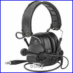 3M/Peltor SwatTac VI Electronic Earmuff Omni-Direction with Boom Microphone Black