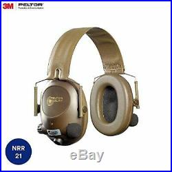 3M Peltor Tactical 6-S Slim Line Electronic Headset with Audio Input Jack, Oliv