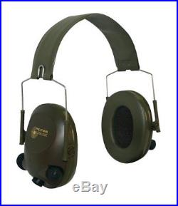 3M Peltor Tactical 6-S Slim Line Electronic Headset with Audio Input Jack, Olive