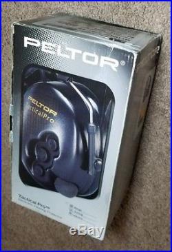 3M Peltor Tactical Pro Electronic Headset, Foldable Headband, Black (MT15H7F SV)
