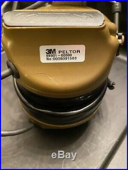 3m Peltor Comtac III Dual Comm Headset Mt17h682fb-19 Cy Coyote Used With Ptt