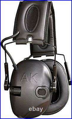 AKT1 Sport Sound Amplification Earmuff, Electronic Hearing Protection for Shooti