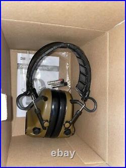 BRAND NEW 3M PELTOR ComTac V Hearing Defender Headset Coyote Brown