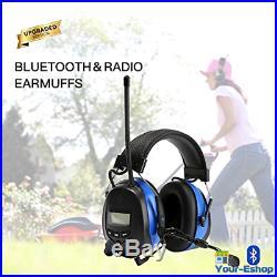 Bluetooth Earmuffs Electronic Earmuff Noise Reduction Safety Ear Muff Headphones