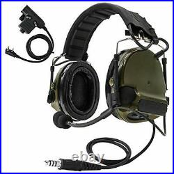 COMTAC III Electronic Tactical Headset Hearing Defender Noise Reduction Sound P