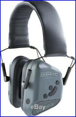 Champion 40980 Vanquish Pro Gray Shooting Hearing Protection Bluetooth Earmuffs