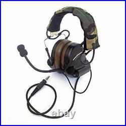 Closed-Ear Electronic Hearing Protection Earmuffs & Communication Headset Black