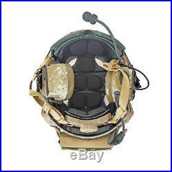 Custom AOR1 Maritime SF Tactical Bump Helmet + Electronic Earmuffs + ANSI Goggle