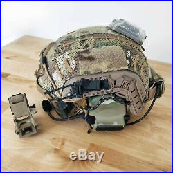 Custom Maritime Tactical Bump Helmet + Electronic Earmuffs + ANSI Goggles