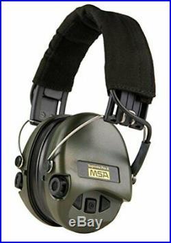Digital Electronic Earmuff Amplification AUX-Input Black-Green Gel-Seals