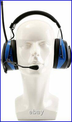 Digital Radio Ear Muffs, Ear Hearing Protection Earmuff with Boom Microphones