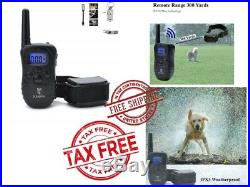 Dog Training Collar Waterproof Rechargeable Vibration Electronic LCD Beep Shock