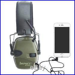 Ear Protection Shooting Impact Sport OD Electric Ear Muffs Lighter Weight Green