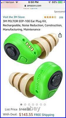 Electronic Ear Plug, Green, 8.5 oz. Weight EEP-100 (OPEN-BOX)