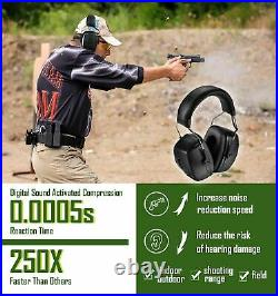 Electronic Earmuff Hearing Protection For Shooting Range With Mic