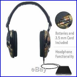 Electronic Shooting Range Muffs EarMuffs Noise Block Headset Gun Range Headphone