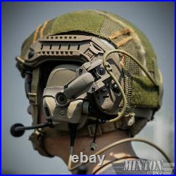 FCS AMP Tactical Military Noise Reduction Communication Headset & V20 V60 PTT