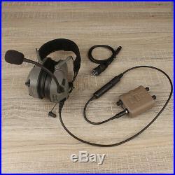 FMA FCS AMP Dual-Channel Pickup Noise Reduction Headset V60 PPT PRC148/152FCS148
