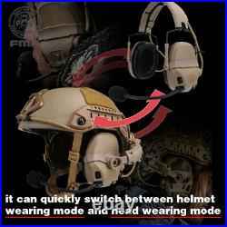 FMA FCS AMP Tactical Headset Communication Noise Reduction Protection Paintball