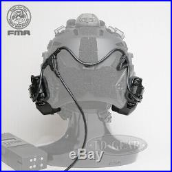 FMA FCS RAC Tactical Headset ARC Noise Reduction Headphones Rail Attached PTT