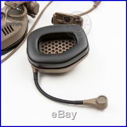 FMA FCS RAC Tactical Headset Rail Attached Noise Reduction For ARC Highcut PTT