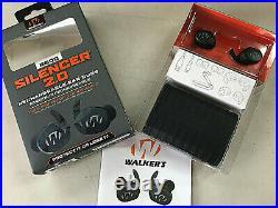 GENUINE Walker's Silencer 2.0 Bluetooth Rechargeable Ear Bud Set #GWP-SLCR2-BT