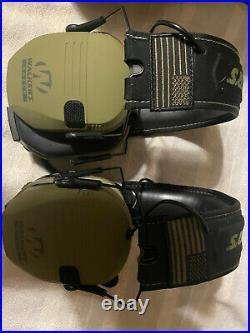 GREEN PATRIOT Walker's Razor Electronic Headset Ear Muffs & Walkie Talkie 2 Pack