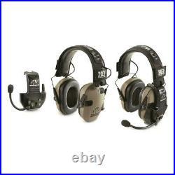 HQ ISSUE Walker's Razor Electronic Ear Muffs With Walkie Talkie Ultra-Slim 2 Pack