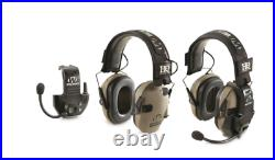 HQ ISSUE Walker's Razor Electronic Ear Muffs with Walkie Talkie, 2Pack, Flat DaRK