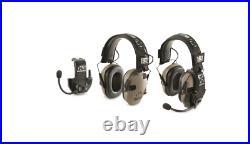 HQ ISSUE Walker's Razor Electronic Ear Muffs with Walkie Talkie 2 Pack
