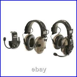 HQ ISSUE Walker's Razor Electronic Ear Muffs with Walkie Talkie, 2 Pack/Flat Dar