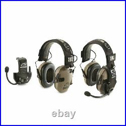 HQ ISSUE Walker's Razor Electronic Headset Ear Muffs with Walkie Talkie (2 Pack)