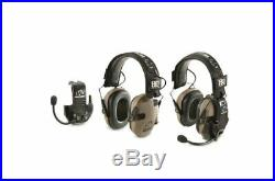 HQ ISSUE Walkers Razor Electronic Ear Muffs With Walkie Talkie 2 Pack Ultra Slim