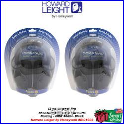 Howard Leight (2-Pack) Impact Pro Electronic Earmuffs #R-01902 2