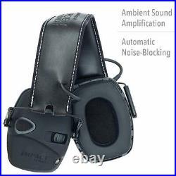 Howard Leight Impact Sound Amplification Electronic Shooting Earmuff w Hard Case