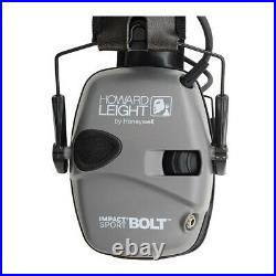 Howard Leight Impact Sport Bolt Digital Electronic Shooting Earmuff Gray