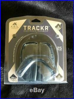 Lot of 12 Axil Trackr Black Electronic Ear Muffs