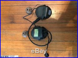 MSA Sordin Comm headset with arc rails and PTT adapter for Baofeng radio