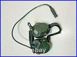 MSA Sordin Neck Band + Mic Water Proof 10 Pin OD Green NOT TESTED, PARTS ONLY