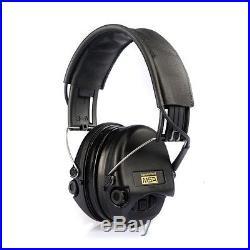 MSA Sordin Supreme Pro X Electronic Earmuff leatherband+cups black, gel seals