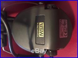 MSA Sordin Supreme Pro X Electronic Earmuff with black leather headband