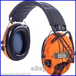 MSA Sordin Supreme Pro X LED Ear Muffs ORANGE BLAZE Made in Sweden